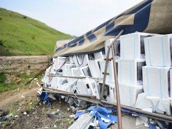 Bursa'da Korkunç Kaza! Onlarca Çamaşır Makinesi Hurdaya Döndü