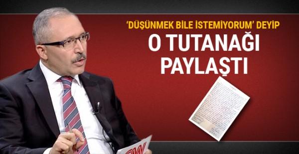 Hükümete yakınlığıyla bilinen yazar Abdülkadir Selvi gündemi sarsacak bir belgeyi paylaştı
