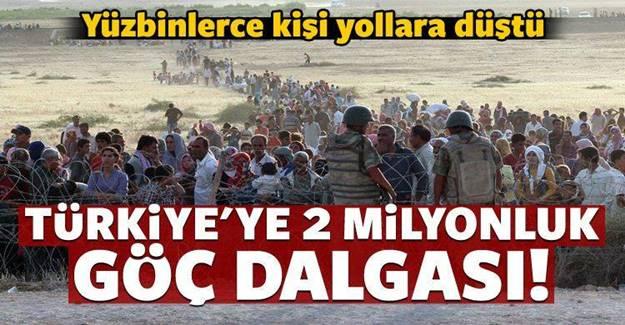 Türkiye'ye 2 milyonluk yeni göç dalgası!