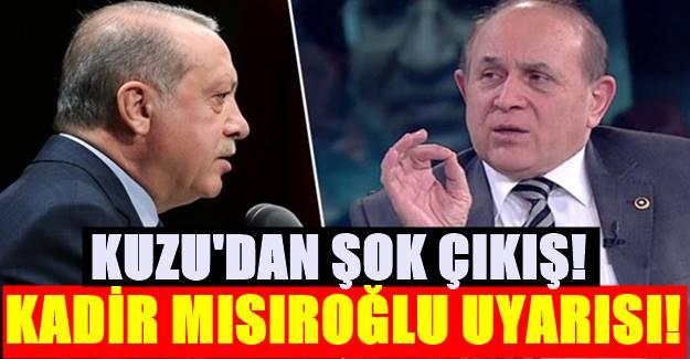 Erdoğan'ın eleştirdiği Fesli Kadir'e Sahip Çıkan Kuzu'dan AK PARTİ'ye uyarı