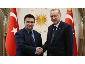Cumhurbaşkanı Erdoğan Ukrayna Dışişleri Bakanı'nı Kabul Etti