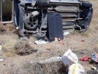 Elazığ-Diyarbakır Karayolunda Otomobil Takla Atta: 4 Yaralı