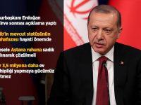 Erdoğan'dan Ateşkes Açıklaması :