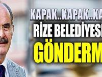 Büyükerşen'den Rize Belediyesi'ne gönderme