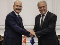 İçişleri Bakanı Soylu, AB Komiseri Avramopulos'u Kabul Etti