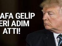 Korkulan olmadı! Trump geri adım attı