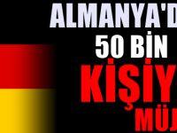 Almanya Türkiye'den işçi istiyor : 50 Bin kişilik müjde