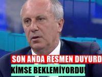 Ankara sallandı ; Muharrem İnce: İlk kez söylüyorum, İstanbul adaylığı...