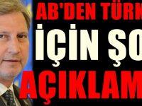 Türkiye ile Avrupa Birliği için ipleri koparacak açıklama