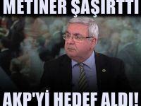 AKP'li Mehmet Metiner'den partisine tepki