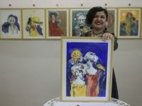 Kaza Sonucu Sağ Eli Kırılan Ressamdan Sol Elle 50 Resim