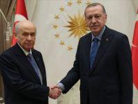 Erdoğan ile MHP Genel Başkanı Bahçeli Bir Araya Geldi