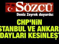 Deniz Zeyrek: İstanbul ve Ankara kesinleşti, rahatlıkla söyleyebilirim