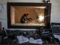 Gazze'deki Filistin Radyo Ve Televizyon binasında flaş girişim