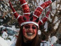 Makedonya'da 1400 Yıllık Karnaval Renkli Görüntülere Sahne Oldu