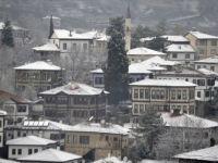 Safranbolu Tarihi Konakları Beyaza Büründü