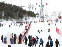 Doğu'daki Kayak Merkezlerinde 'İlkbahar' Yoğunluğu