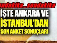 İşte Ankara ve İstanbul'dan son anket sonuçları