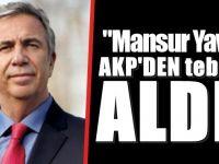 Mansur Yavaş'a AKP'den tebrik