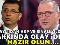Fatih Altaylı'dan İstanbul için şok iddia! AKP ve Binali Yıldırım planı...