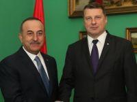 Çavuşoğlu Letonya Cumhurbaşkanı Vejonis İle Görüştü