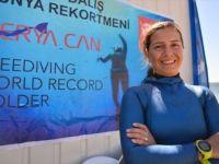 Milli Sporcu Yeni Dünya Rekoru İçin Yine Salda Gölü'nü Seçti