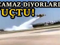 AKP'li bakanın uçamaz dediği uçaklar tatbikat yaptı