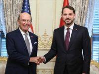 Bakan Albayrak ile ABD Ticaret Bakanı Wilbur Ross Bir Araya Geldi