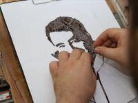 Iraklı Ressam Kaset Bantlarıyla Birçok Sanatçının Portresini Yapıyor