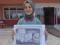 Lise Öğrencisi Sümeyra Toka'nın Karikatürü Dünya Birincisi Oldu