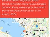 Şiddetli deprem Arnavutluk ve Makedonya'yı salladı