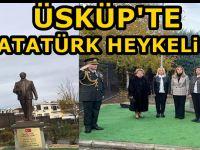 Üsküp'te Ulu Önder Atatürk'ün heykeli törenle dikildi