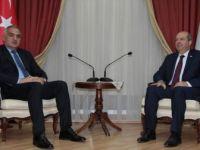KKTC Başbakanı Tatar, Kültür ve Turizm Bakanı Ersoy'u Kabul Etti