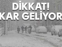 İstanbul'a şiddetli kar geliyor