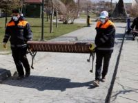 Van'da Parklardaki Oturma Bankları Kaldırıldı