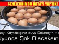 Yumurtayı Kaynattığınız Suyu Dökmeyin Mucizevi bir faydası var