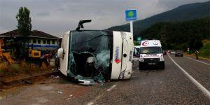 İstanbul'dan Kastamonu'ya giden yolcu otobüsü devrildi!