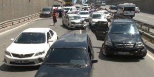 Şile yolunda 15 araç birbirine girdi!