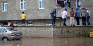 Erzurum'da sel felaketi!