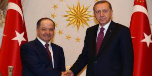 Cumhurbaşkanı Erdoğan, Mesut Barzani'yi kabul etti!