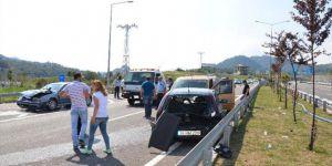 Ordu'da zincirleme trafik kazası: 10 yaralı!