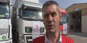 Kızılay'ın Musul yardım konvoyu Erbil'e ulaştı