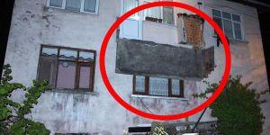 Trabzon'un Ortahisar ilçesinde Balkon Çöktü: 3 Yaralı