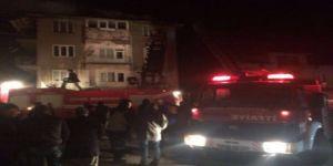 Kütahya'nın Simav'da Kalkan köyünde Çatı Yangını