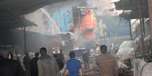 Ataşehir'de Yürekleri Ağza Getiren Atölye Yangını