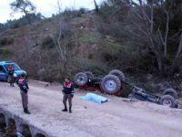 Antalya, Kumluca'da Traktör İle Beton Bariyerlerin Arasına Sıkışan Sürücü Engin Miktariye Öldü