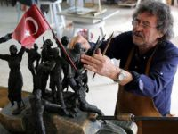Murat Oğuz 15 Temmuz Direnişini Heykelle Anlattı