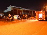 Çanakkale Biga'da Hurda Araç Yandı