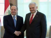 Başbakan Yıldırım- Mesud Barzani Görüşmesinde Terör Vurgusu