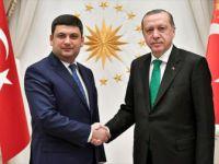 Cumhurbaşkanı Erdoğan, Ukrayna Başbakanı Vladimir Groysman'ı Kabul Etti